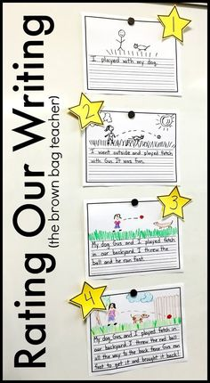 Rating Our Writing Anchor Chart for Kindergarten and First Grade