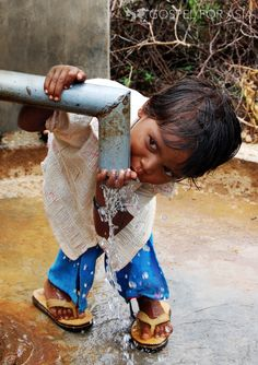 Clean water = healthy kids! Did you know that thousands of children die every year from water-borne diseases? Access to clean drinking water could save many lives! http://www.gfa.ca/water/