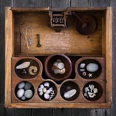 A small collection housed in an intriguing wood box.