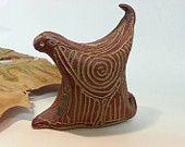 Abstract Red Bird, Ceramic Red Bird, Red Bird Sculpture