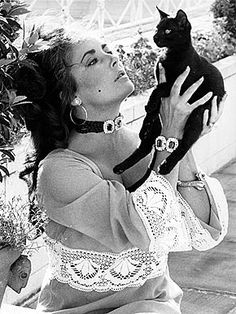 Elizabeth Taylor and a friend