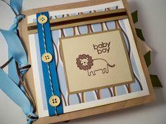 free scrapbook layouts for new baby | BABY BOY SCRAPBOOK Pre Made Mini Album. Paper Bag Baby Book. Brag Book ...