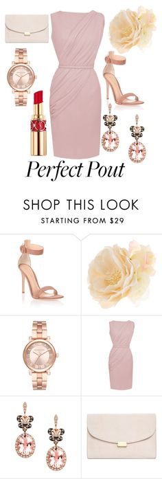 """""""lips service"""" by sally-leaney ❤ liked on Polyvore featuring beauty, Gianvito Rossi, Accessorize, Michael Kors, Effy Jewelry, Mansur Gavriel and Yves Saint Laurent"""