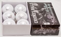 Black Ash Premier Grade Pack Of 6 White Cricket Leather Balls 156 Grams Free Shipping