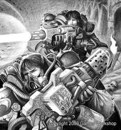 "Client: Games Workshop Destination: Warhammer 40000 ""Codex: Witch Hunters"" Technique: Pencil All rights reserved"