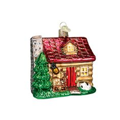 Cabins and cottages, nestled in villages and throughout the countryside, often represent the heritage and culture of the glassblowers. This little Lake Cabin ornament serves as a reminder of all the special times spent by the lake. They say that if you are lucky enough to spend time at a cabin, you are truly lucky! #lakecabin #cabin #cottage #glassblowers #specialtimes #summer #cherishedmemories #glassornaments #oldworldchristmas Lake Cabin (Item #20026)