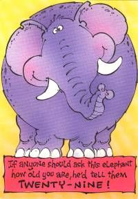 Elephant Motif GREETING CARD Examples at Elefunteria Belated Birthday, Winnie The Pooh, Smurfs, Disney Characters, Fictional Characters, Elephant, Greeting Cards, Winnie The Pooh Ears, Elephants
