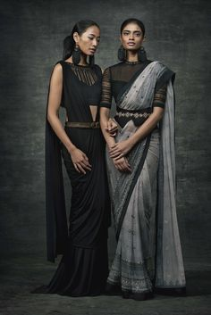another stunning Tarun Tahiliani creation in ombre shades of grey! Loving it!