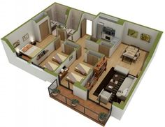 Two Bathrooms With Five Beds Seems A Little Dangerous Even If This Is The Layout