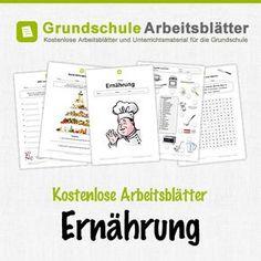 Kostenlose Arbeitsblätter und Unterrichtsmaterial für den Sachunterricht zum Thema Ernährung in der Grundschule.