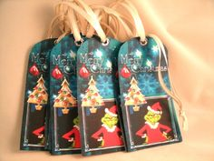 Grinch Christmas Tags
