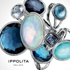 IPPOLITA Silver Lollipop® and diamond rings | www.goldcasters.com