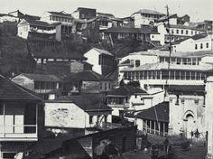 Plazuela y Convento de San Francisco, calle Aduanilla del cerro Cordillera de Valparaiso en 1863. @IPerezTuesta @purb