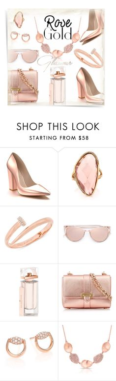 """""""So pretty: Rose Gold Jewelry"""" by kiki-bi ❤ liked on Polyvore featuring See by Chloé, Shoes of Prey, Mark Broumand, Vince Camuto, Linda Farrow, Balenciaga, Aspinal of London, Gucci, Anne Sisteron and rosegold"""