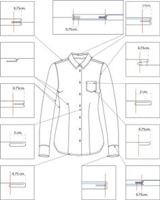 to make sewing pattern graphics Sewing Lessons, Sewing Hacks, Sewing Tutorials, Dress Sewing Patterns, Clothing Patterns, Pattern Sewing, Mens Shirt Pattern, Fashion Illustration Template, Textile Manipulation