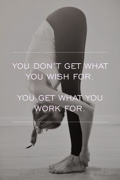 """So true... but the """"work"""" isn't just exercise, it's a full package of self care. Drinking plenty of water, getting enough sleep, eating fewer worthy calories than are burned, and of course, taking time each day to just breathe. """"Thinner"""" is good, but """"healthier"""" is so much more worth the effort!"""