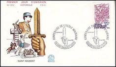 Timbre : 1981 CENTENAIRE DE L'ÉCOLE MILITAIRE DE SAINT-MAIXENT | WikiTimbres