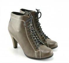 Botine Bum Khaki (Khaki) - Khaki Booty, Ankle, Heels, Fashion, Heel, Moda, Swag, Wall Plug, Fashion Styles