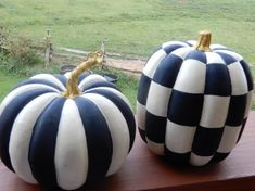This listing is for ONE whimsical painted pumpkin in your choice of either checks or stripes. These pumpkins are hand painted by me in permanent acrylics so they will last a lifetime. They are assorted sizes but generally measure 9 - 10 Black Pumpkin, Cute Pumpkin, Pumpkin Crafts, Pumpkin Ideas, Pumpkin Pumpkin, Foam Pumpkins, White Pumpkins, Painted Pumpkins, Painted Halloween Pumpkins