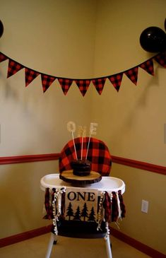 High chair decoration
