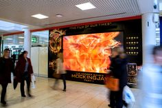 Lionsgate recently used our DSM format for the third installment of the Hunger Games series, Mockingjay Part One #DOOH #mall #ads