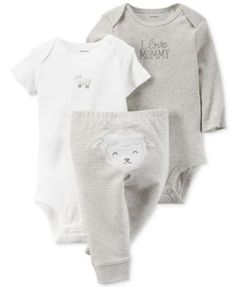 Carter s Baby Boys  or Baby Girls  2-Pack Little Lamb Coveralls Kids - Sets    Outfits - Macy s a49f78449