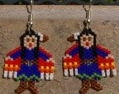 Shawl Dancer Earrings Hand Made Seed Beaded