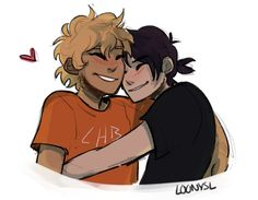 "loonysl: ""I've been doodling a lot but not getting anything done ughhh, have a quick solangelo because it's been a really long time and I miss them"