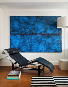 A Single Vision - Slide Show - NYTimes.com Le Corbusier's LC4 chaise and blue painting