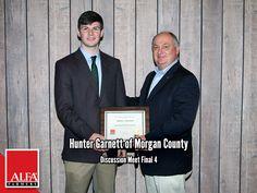 Discussion Meet Finalist Hunter Garnett of Morgan County Young Farmers, Create Awareness, Alabama, Leadership, Meet