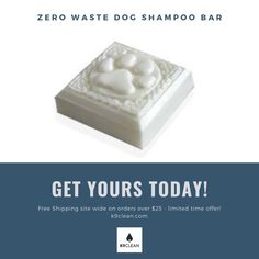 Made with all natural Ingredients- this Zero waste shampoo bar will leave your dogs fur healthy and soft!