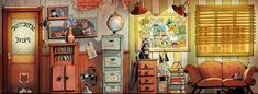 kid show detective office background by serge-fiedos