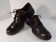 BORN Size 8 Deep Brown Oxford Lace Up Shoes W6436 EU 39 Hand Crafted Footwear #Born #Oxfords #WeartoWork