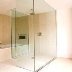 Épített, Egyedi üveg zuhanykabin, kádparaván, zuhanyfal, vasalatok - Egyedi Üveg…