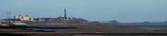 PANO VIEW FROM OUR BEACH IN FLEETWOOD LOOKING AT THE TOWER