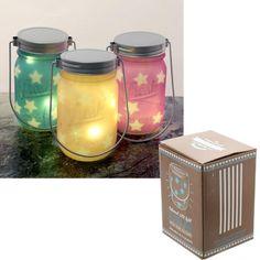 JAR24 - Barattolo Decorativo Colorato con LED e Stelline | Puckator IT #summer #night #lanterns #lanterna #led #estate