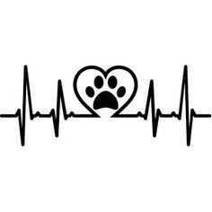 Silhouette Design Store - View Design #180829: heartbeat pet love