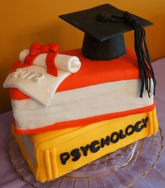 College Graduation Cake — Graduation - Perfect cake for Kevin but I would do in black and gold - UCF colors