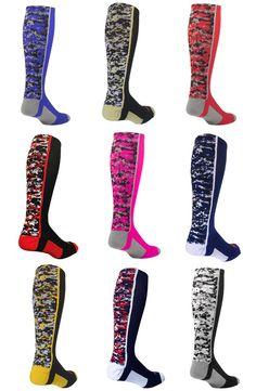 Digital Camo Over the Calf Socks!  Great for baseball, softball, soccer and more...