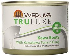Weruva's TruLuxe Cat Food, Kawa Booty with Kawakawa Tuna in Gravy, 6oz Can (Pack of 24)