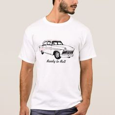 Ready to Roll Vintage Car T-Shirt - click/tap to personalize and buy Mens T Shirts Uk, Cool T Shirts, Mens Tops, Shirt Men, Tractor Silhouette, Ready To Roll, Men Design, Design Ideas, Outfit Goals