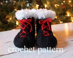 Crochet Baby Booties Pattern on Etsy, $4.99