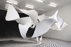 Richard Sweeney / Beta II installation / pleated paper / via jen