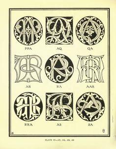 52 Vintage eBOOK on Lettering, Monograms, Ciphers, Alphabets, Embroidery (Printable .pdf files) on DVD. $7.99, via Etsy.