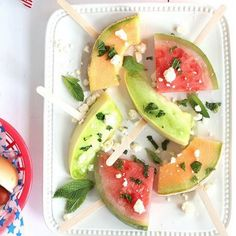 Healthy alternative to that traditional popsicle. Melon popsicles for the adults!