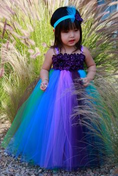 Peacock Inspired Tutu Dress Series IV by giselleboutique on Etsy, $69.99