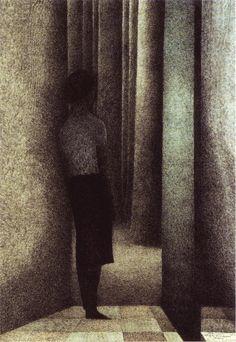 Leon Spilliaert, The Open Door, 1945.