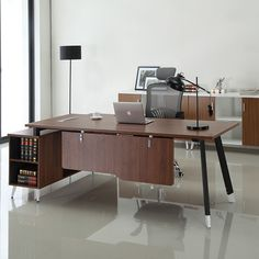 New design eco friendly CEO office furniture wooden classic executive office table design