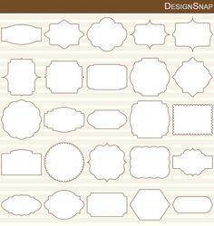 50 Brown Digital Frames, Classic Frames, Digital Clipart, Digital Frame, Clipart…