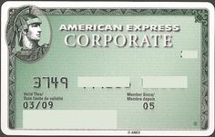 Bank Card: AmEx France CORPORATE 09 (American Express Carte, France) Col:FR-AE-0002
